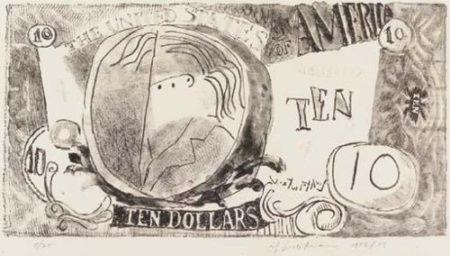 Roy Lichtenstein-Ten Dollar Bill-1956