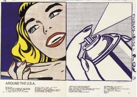 Roy Lichtenstein-Girl; Spray Can, from 1c Life-1964