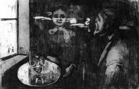 Edvard Munch-Tete-a-tete / Plauderstunde (Schiefler 12; Woll 9)-1895