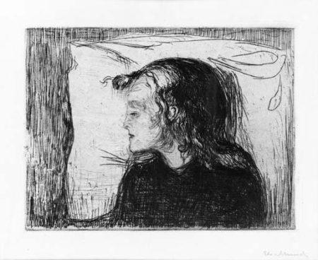 Edvard Munch-Das Kranke Madchen, Klein / Det Syke Barn / The Sick Child (S. 60, W. 47)-1896