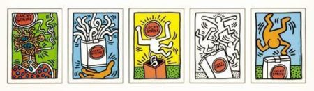 Keith Haring - Lucky Strike-1987