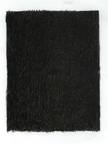 Jasper Johns-Figure 6, from Black Numeral Series-1968