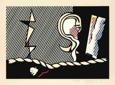 Roy Lichtenstein-Figures with rope-1978
