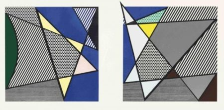 Roy Lichtenstein-Imperfect Diptych 46 1/4 x 91 3/8-1988