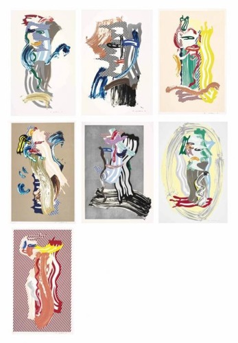 Roy Lichtenstein-Brushstroke Figures Series-1989