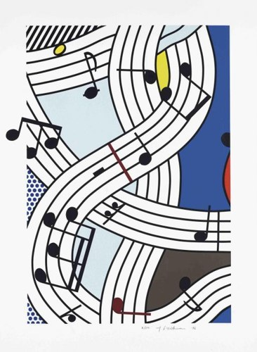 Roy Lichtenstein-Composition I-1996