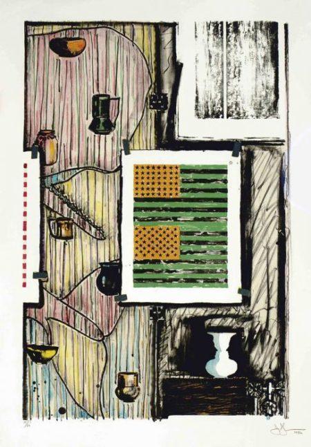Jasper Johns-Ventriloquist (ULAE 235)-1986
