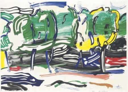 Roy Lichtenstein-Road before the forest, from Landscape series-1985