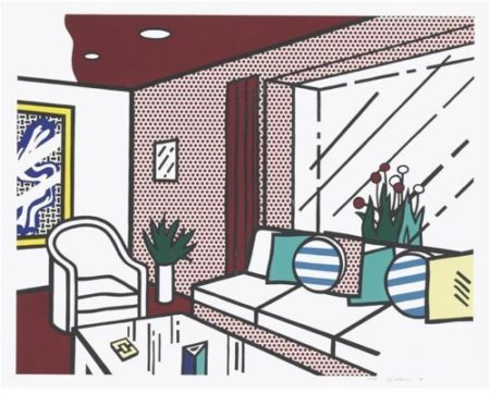 Roy Lichtenstein-The Living Room (from Interior Series)-1990