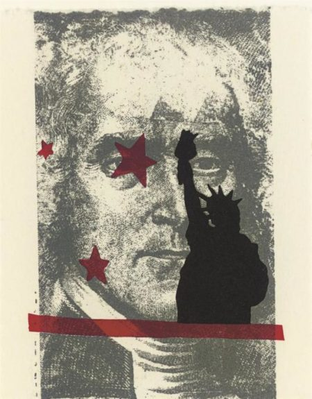Robert Rauschenberg-Robert Rauschenberg - Spackle (From Harvey Gantt Portfolio)-1990