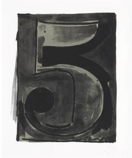 Jasper Johns-Figure 5, from Black Numeral Series (ULAE 49)-1968
