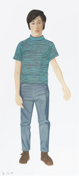 Alex Katz-The Striped Shirt-1980