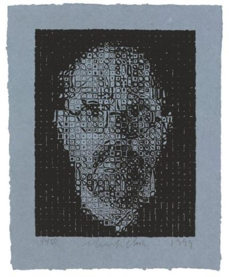 Chuck Close-Self-Portrait I-1999