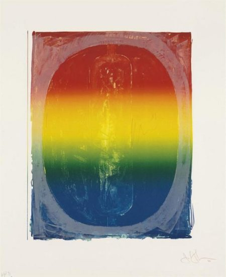 Jasper Johns-Figure 0, from Color Numeral Series (ULAE 59)-1969