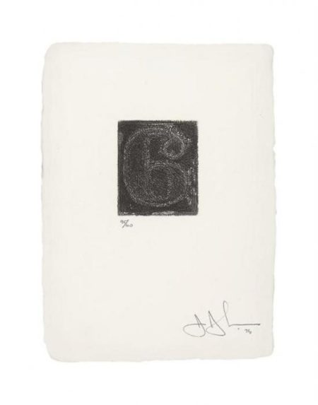 Jasper Johns-6 (ULAE 162)-1975