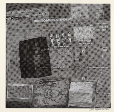 Robert Rauschenberg-Robert Rauschenberg - Surface Series # 45 (From Currents) (F. 116)-1970