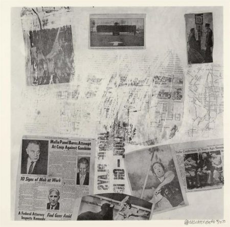 Robert Rauschenberg - Features from Currents # 72 (Foster 143)-1970