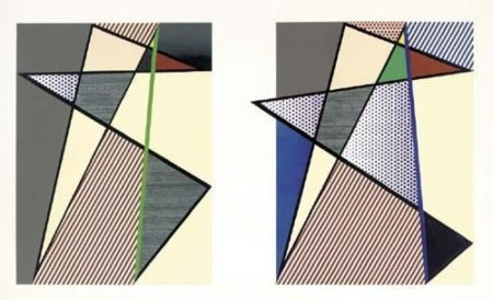 Roy Lichtenstein-Imperfect Diptych 57 7/8 x 93 3/4-1988