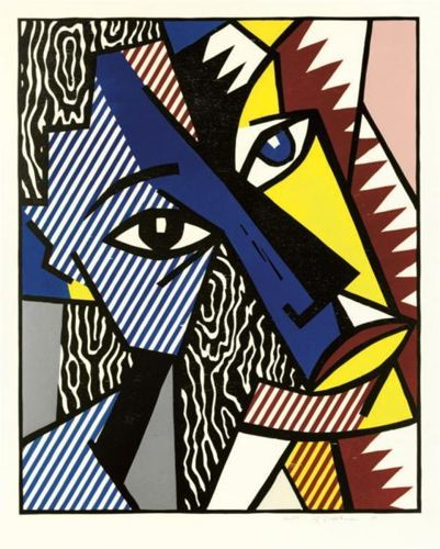 Roy Lichtenstein-Head, from Expressionist Woodcut Series-1980