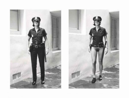 Helmut Newton-Evi As Cop, Half-naked And Dressed, Beverly Hills, March (1998)-1996