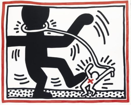 Keith Haring - Free South Africa: One Plate-1985