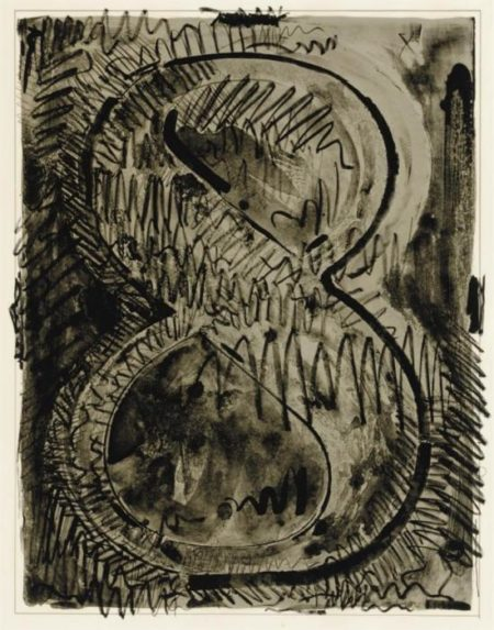 Jasper Johns-Figure 8, From Black Numeral Series (Ulae 52)-1968