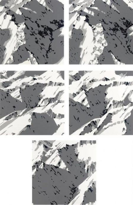 Gerhard Richter-Schweizer Alpen II (Swiss Alps II)-1969
