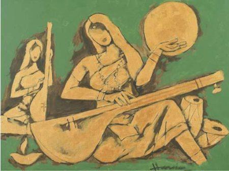 Maqbool Fida Husain-Meera-