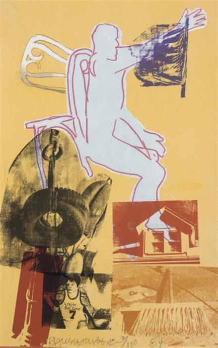 Robert Rauschenberg-Robert Rauschenberg - Portrait Of Merce Cunningham-1984