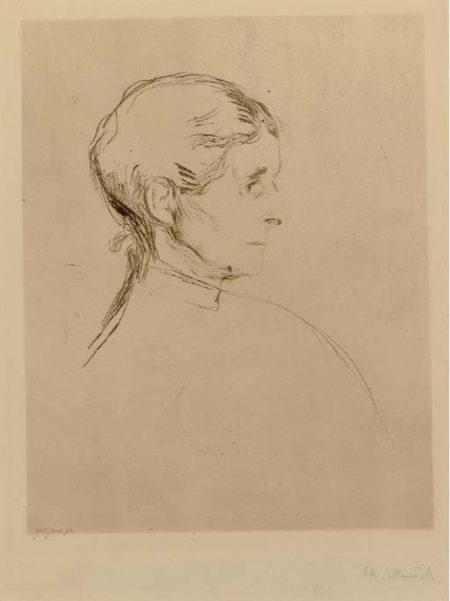Edvard Munch-Portrait einer Dame (Sch. 53; W. 45)-1896