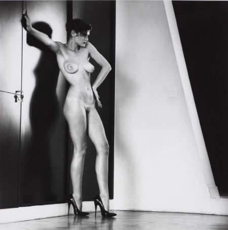 Helmut Newton-Sylvia in my studio, Paris from Private Property Suite III-1981