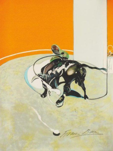 Francis Bacon-Miroir de la tauromachie: centre panel-1990