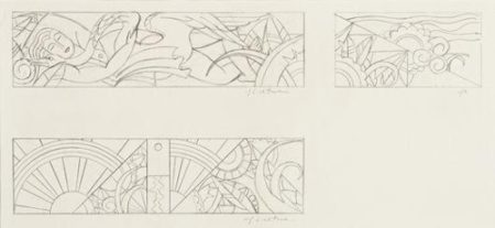 Roy Lichtenstein-Untitled (Sheets of Studies for Leda & the Swan)-1968