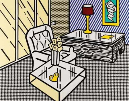 Roy Lichtenstein-The Den (from Interior Series)-1990