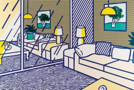 Roy Lichtenstein-Blue Floor (from Interior Series)-1990