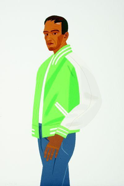 Alex Katz-Alex in Green Jacket / Green Jacket-1990