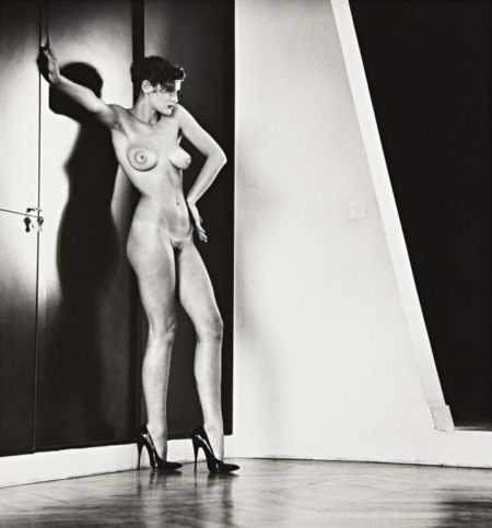 Helmut Newton-Sylvia in My Studio, Paris-1981