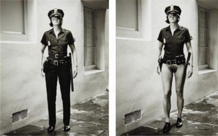 Helmut Newton-Evi The Cop, Beverly Hills (1996)-1996