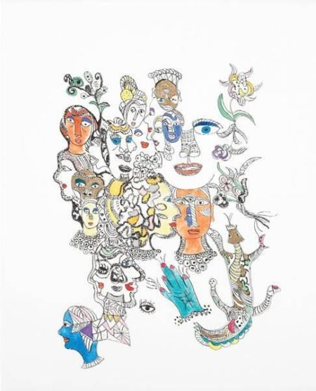 Niki de Saint Phalle-Buddah; Untitled; The Lovers-2002