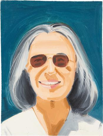 Alex Katz-Portrait of a Woman With Sunglasses-1995