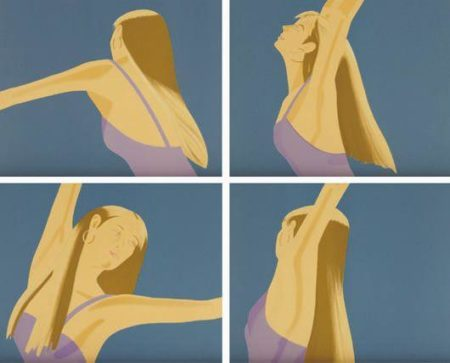 Alex Katz-Night: William Dunas Dance I-IV / Pamela (Maravell 146-49)-1983