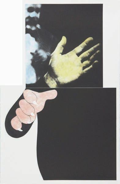 Two Hands (with Distant Figure)-1990