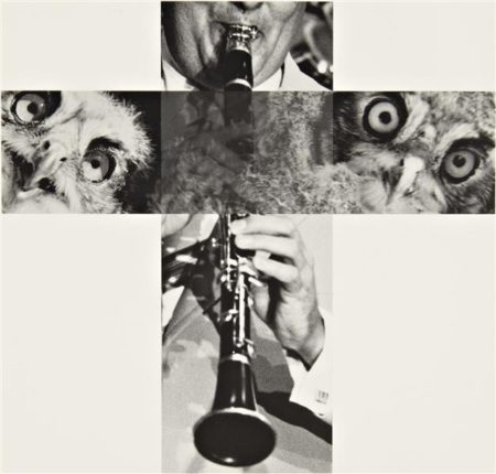 John Baldessari-The Intersection Series: Clarinetist and Owls-2001