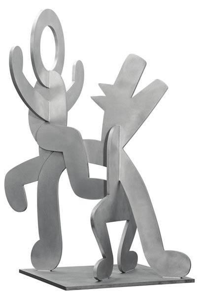 Keith Haring-Keith Haring - Figure balancing on Dog-1989