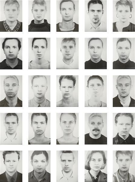 Thomas Ruff-25 Works from the Anderes Portait Series-1995