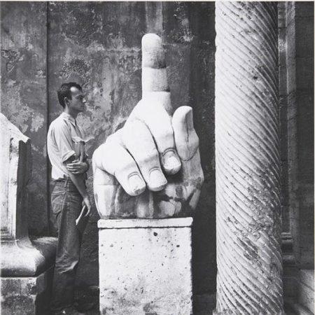 Robert Rauschenberg-Robert Rauschenberg - Cy, Twombly + Relics, Rome, #5-1952