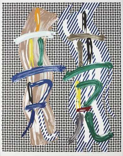 Roy Lichtenstein-Brushstroke Contest-1989