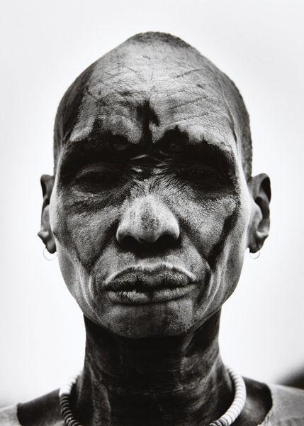 Dinka Man at Cattle Camp of Kei, Southern Sudan-2006