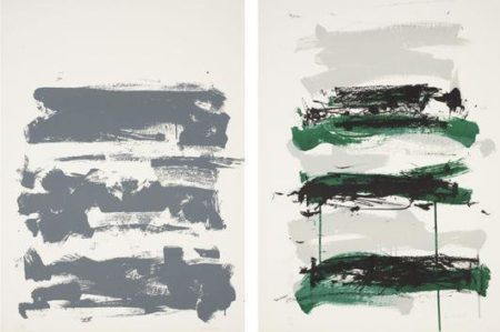 Joan Mitchell-Champs (Gray); Champs (Gray, Black and Green)-1992