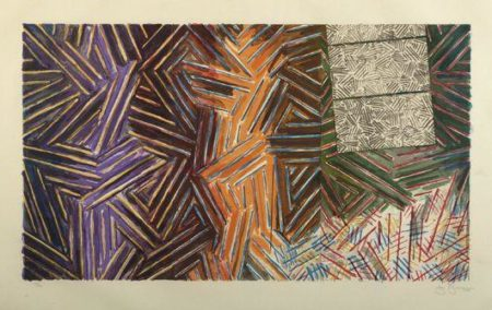 Jasper Johns-Between the Clock and the Bed (ULAE 246)-1989
